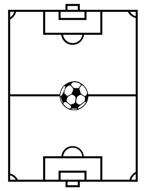 Soccer Field Template  #Soccer #Field #Printable #Template #Kids