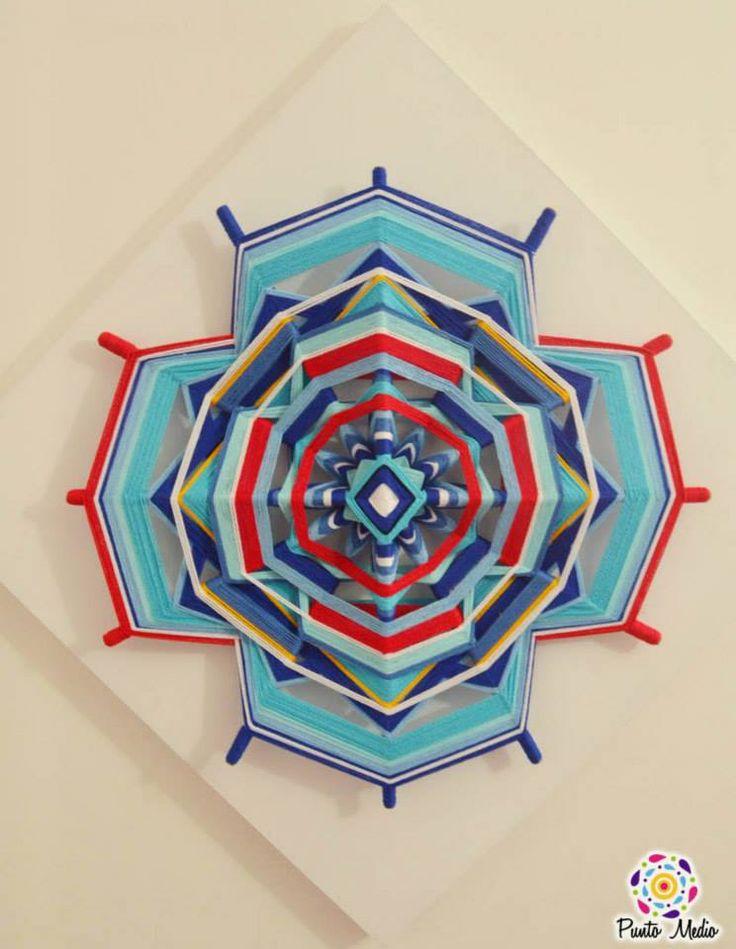 Mandala en cruz.  Unión del cielo y la tierra, lo consciente y lo inconsciente. www.facebook.com/Ptomedio