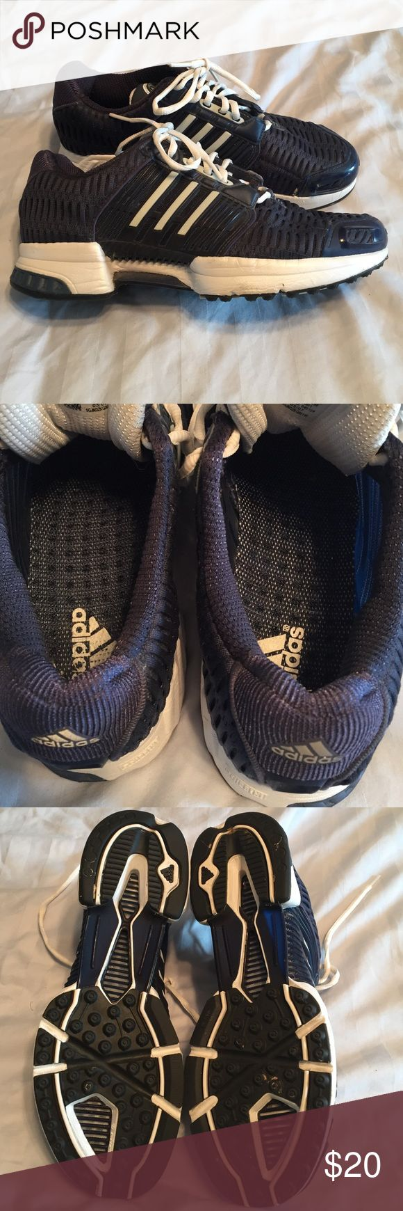 Adidas Running Shoes Adidas ClimaCool Lightweight shoe. They are navy and white. Only been worn once. It's a size 7.5 but fits like a size 9. Adidas Shoes