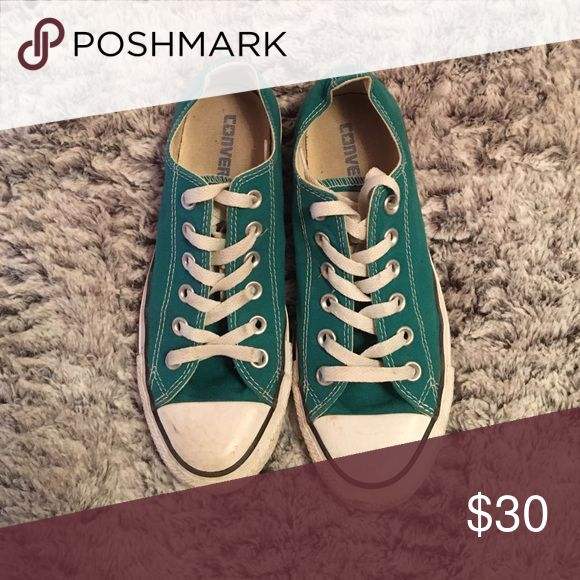 Turquoise converse Light wear Converse Shoes Sneakers