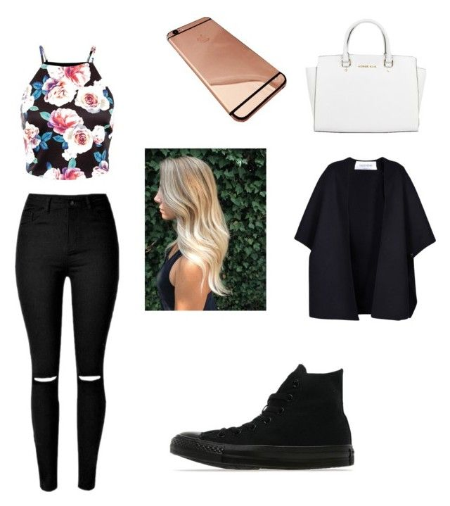 chilling with friends by megan-osh on Polyvore featuring polyvore fashion style Valentino Converse Michael Kors clothing