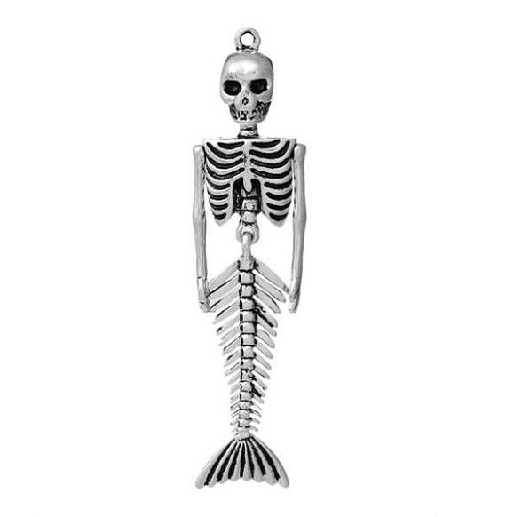 breloques Squelette de Sirène lot de 3 piècessirène mer #mermaid #mermaidskull
