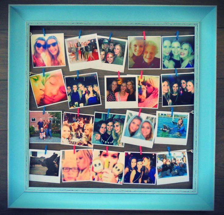 Maak je eigen fotocollage #fotocollage #maken #DIY#photo #frame #collage #fotolijst