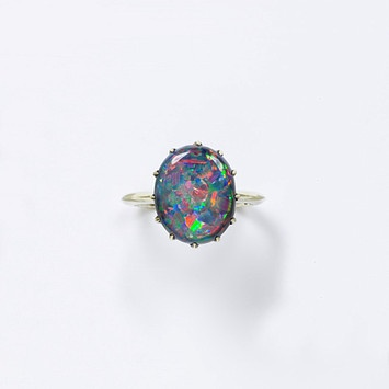 opal ring - october birth stone