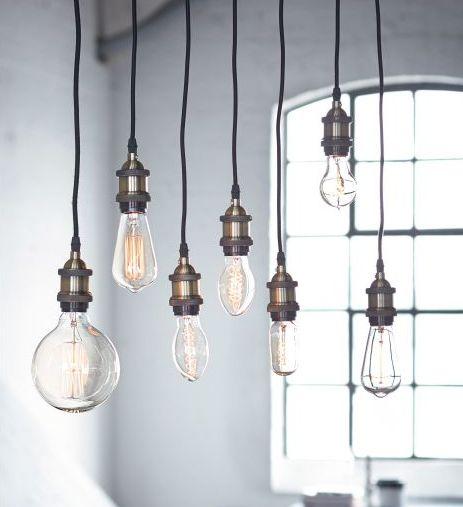 Beleuchtung // Industrial // große Glühbirnen #Wohnen