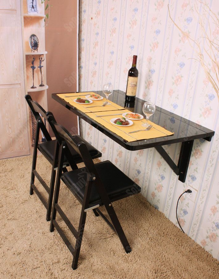 Best 25 wall mounted dining table ideas on pinterest - Table bar murale ...