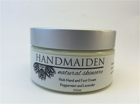 250ml Rich Hand and Foot Cream  Peppermint and Lavender with organic Shea butter, avocado oil and cocoa butter.