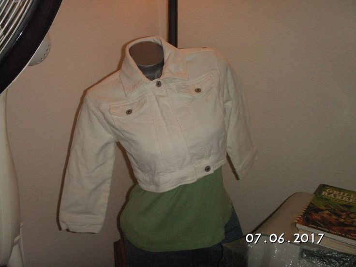 This item is listed in hopes of helping those effected by #HurricaneHarvey, #HurricaneIrma, #HurricaneMaria & the #CAWildfires. Please click the eBay link to learn more about this item. The item's information well exceeds the character limit set by Pinterest. / Wet Seal Womens White Corduroy Cropped Bolero Jacket Sz S Collared Zip Up Cuffs #WetSeal #CroppedBolero #CasualDressyCasualBusinessEveningOut