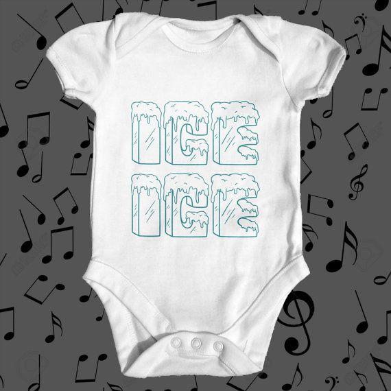 Ice Ice Music Bodysuit  funny baby bodysuit   by TinyTearaways