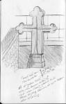 Grabkreuz, Montmatre Paris auf http://www.croquis.eu/sketches/grabkreuz-montmatre-paris/ #sketch #draw #zeichnen #skizze #zeichnung #dessiner #croquis #equisse #griffonage
