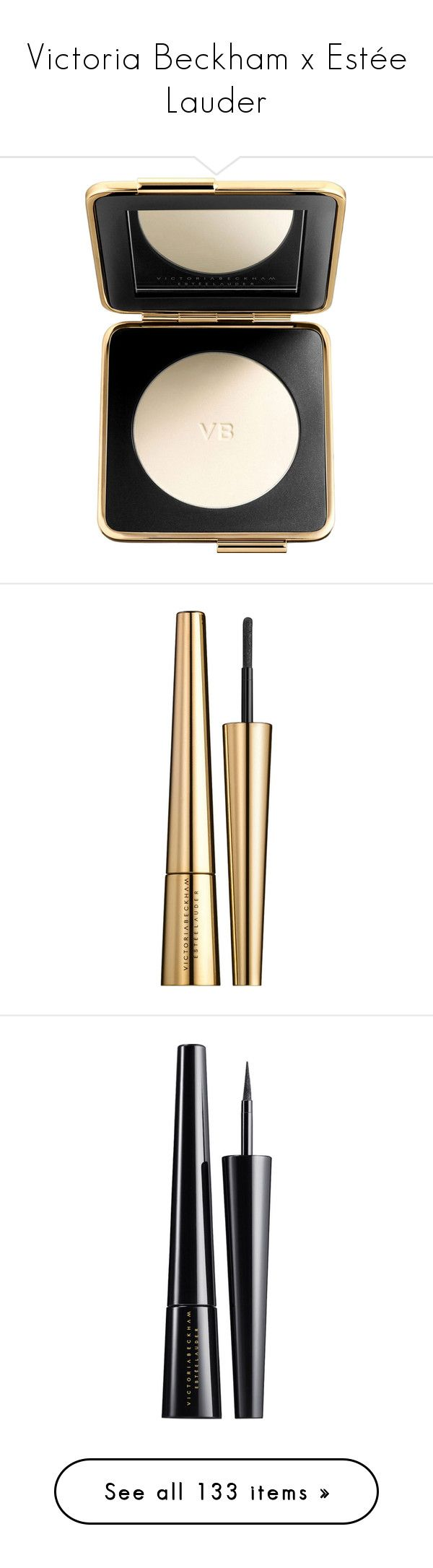 """""""Victoria Beckham x Estée Lauder"""" by angelbrubisc ❤ liked on Polyvore featuring beauty products, makeup, face makeup, estee lauder makeup, estée lauder, estee lauder cosmetics, eye makeup, beauty, loose powder makeup and estee lauder eye makeup"""