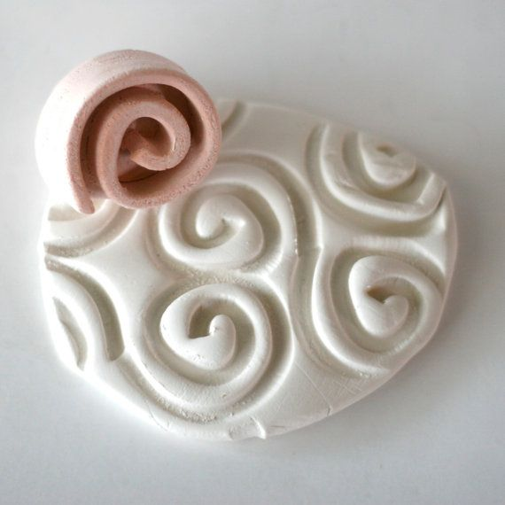 Spiral Pottery Pattern or Texture Flat Coil Stamp by GiselleNo5 - love this, great shape and very versatile.