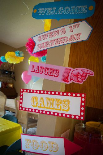 Carnival Circus Inspired Birthday Decor