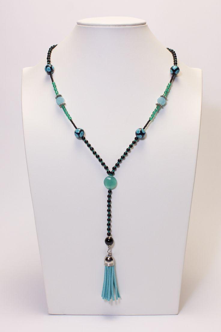 Collier noir-turquoise-emeraude #gadhorre #jewelry