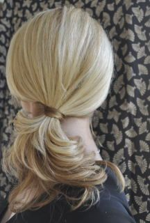 Ponytail created with just one bobby pin! | Kenra Professional Hairstyle Inspiration.