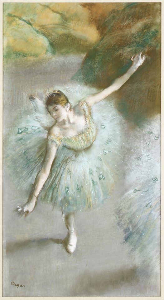 Edgar Degas (French,1834–1917) | Dancer in Green | ca. 1883