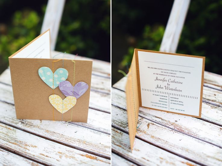 Homemade wedding invites