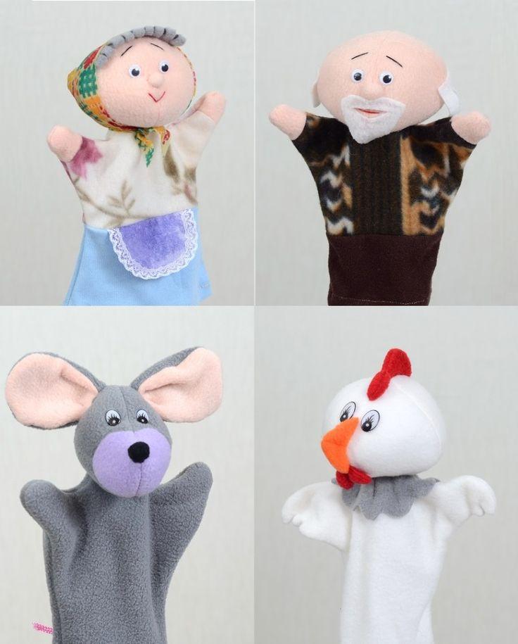 Курочка Ряба - набор кукол-перчаток для кукольного театра