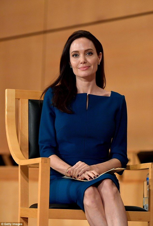 Radiant:The Oscar winning actress, 41, looked enthralled as she listened in on the presentation  before taking to the stage to deliver a speech of her own