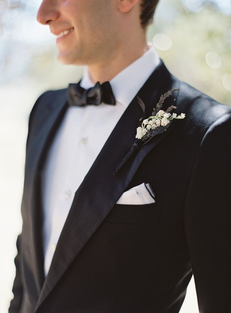 Dashing! This groom in his tux. On SMP:  http://www.StyleMePretty.com/2014/03/04/elegant-outdoor-wedding-in-kenwood-california/ Jose Villa Photography