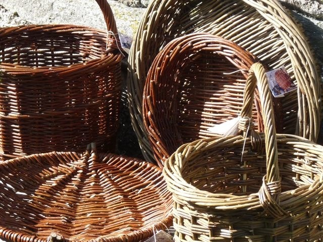 Baskets made from Seafield grown willow