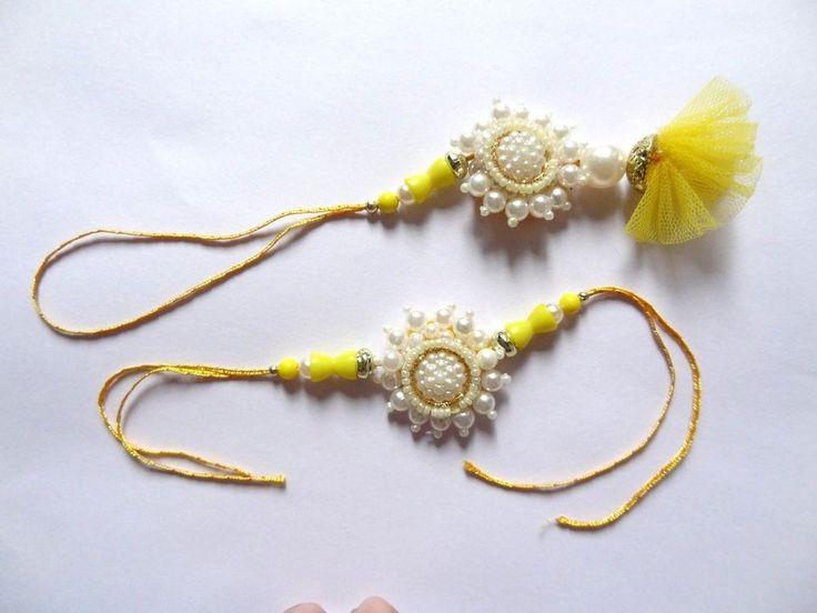 India Designer Brother Sister Rakhi Occasion Pearl Stone Rakhi Raksha Bandhan #IndianBrand #Friendship