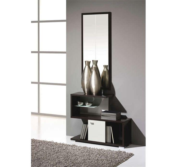 Mueble recibidor moderno 40 rec mod 09 muebles y - Recibidor zapatero moderno ...
