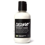 Coconut deodorant dusting powder: Coconut is probably the world's only deodorant with powdered coconut milk, both creamed and desiccated coconut and coconut oil to help it stay in place all day. It's scented with two of our favorite calming essential oils; fragrant vetivert grass and benzoin gum. We've blended it into a moisture-absorbing mixture of tapioca, cornstarch and natural mineral magnesium carbonate, our microfine powders. Use it and smell like a tropical cocktail.