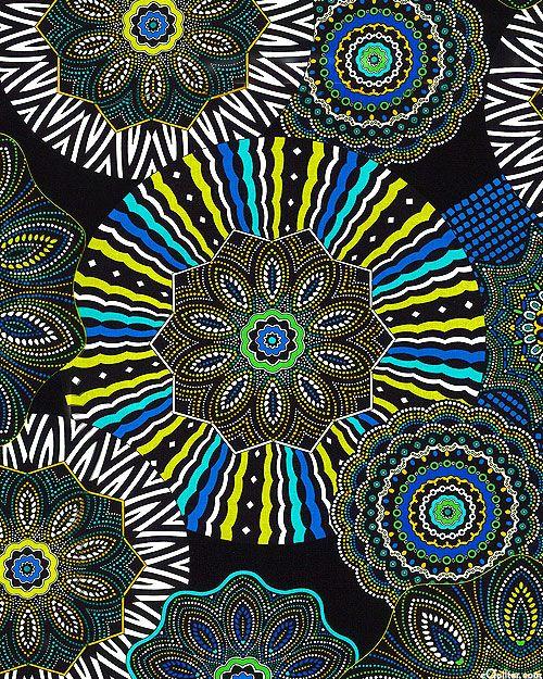 Equilter Origins Aboriginal Medallion Spice Black