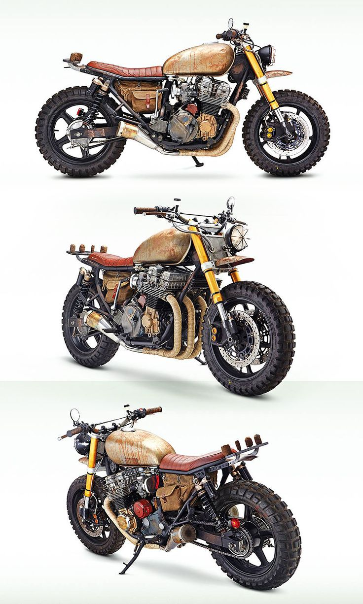 Daryl's bike! Honda CB 750 Four. Customizada ¨mezzo¨ Scrambler, ¨mezzo¨ Rat Bike.