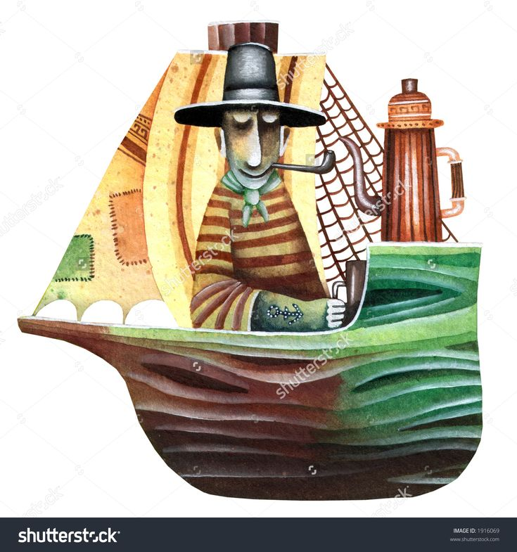 Lonely Navigation With Pipe And Teapot by Eugene Ivanov #eugeneivanov #sea #voyage #sail #ship boat #cruise #sailor #captain #seafarer #seaman #mariner #vessel #boat #@eugene_1_ivanov