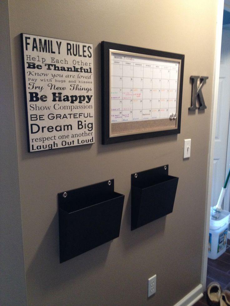 Family organization wall !