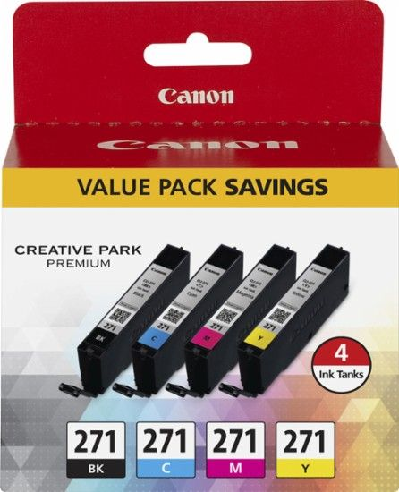 Canon - CLI-271 4-Pack Ink Cartridges - Black/Cyan/Yellow/Magenta - Front Zoom