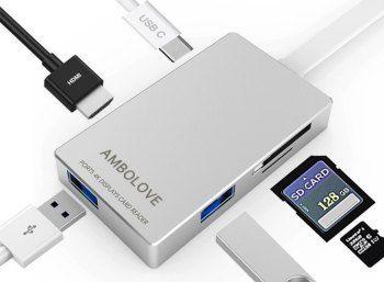 Amazon: USB-Hub mit HDMI-Port und Cardreader für 15,99 Euro https://www.discountfan.de/artikel/technik_und_haushalt/amazon-usb-hub-mit-hdmi-port-und-cardreader-fuer-1599-euro.php Ein sehr gut bewerteter USB-Hub mit HDMI-Port und Kartenleser ist jetzt bei Amazon dank eines Gutscheins für 15,99 statt 39,99 Euro zu haben – verfügbar ist das Stück in schwarz und silber. Amazon: USB-Hub mit HDMI-Port und Cardreader für 15,99 Euro (Bild: Amazon.de) Um an den USB-Hub mi