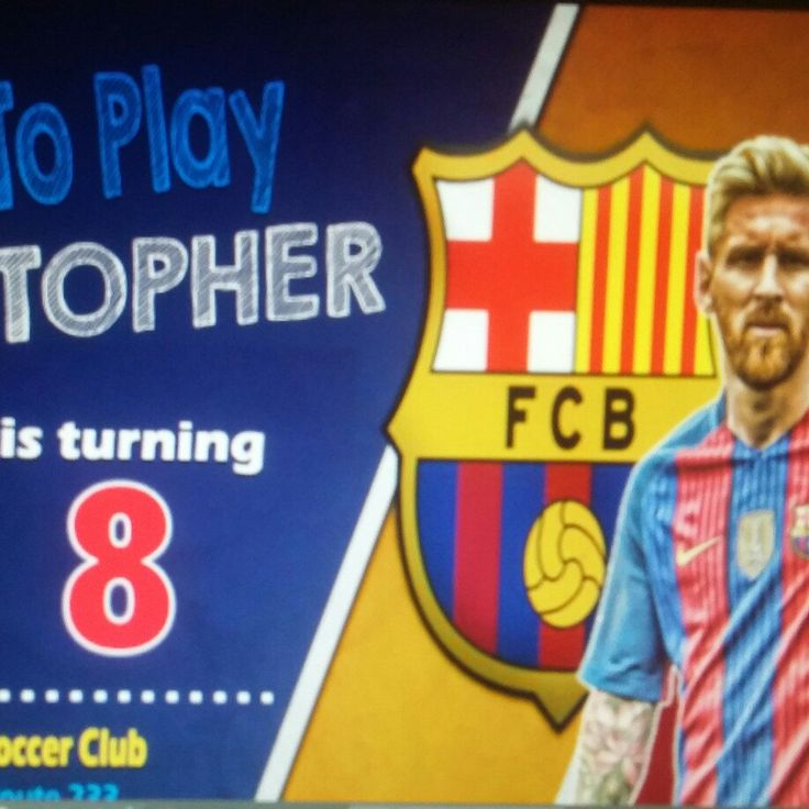 Working on Christopher Messi Birthday Invitation