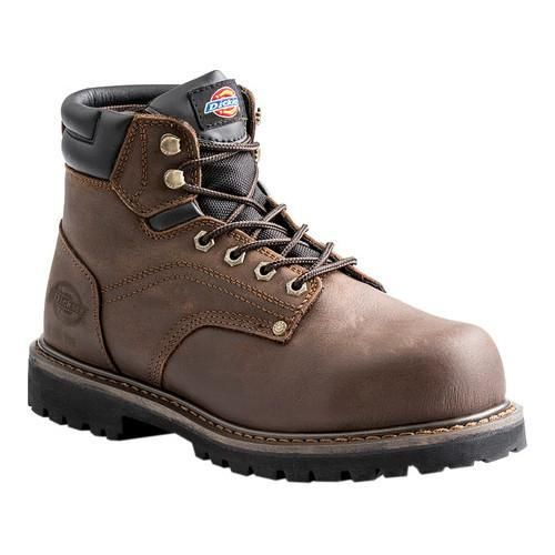 Men's Dickies Ratchet 6in Steel Toe Safety Work Boot Full Grain Leather