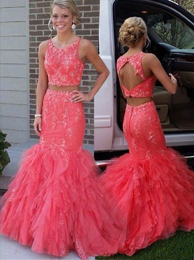 25 best ideas about coral prom dresses on pinterest