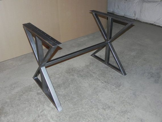 Modern Steel Farmhouse DIY Table Base   Shape Only