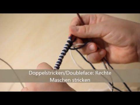 Doubleface stricken - verständlich erklärt - Rechte Maschen stricken