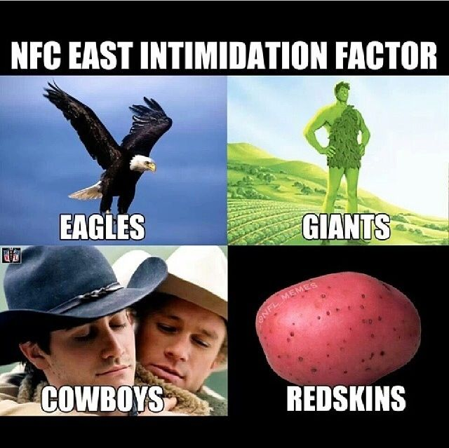 NFC East Intimidation Factor #NFL #Eagles #Giants #Cowboys #Redskins suck