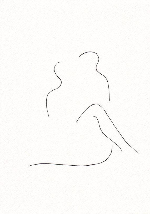 Zwart-wit tekening originele inkt. Erotische slaapkamer door siret