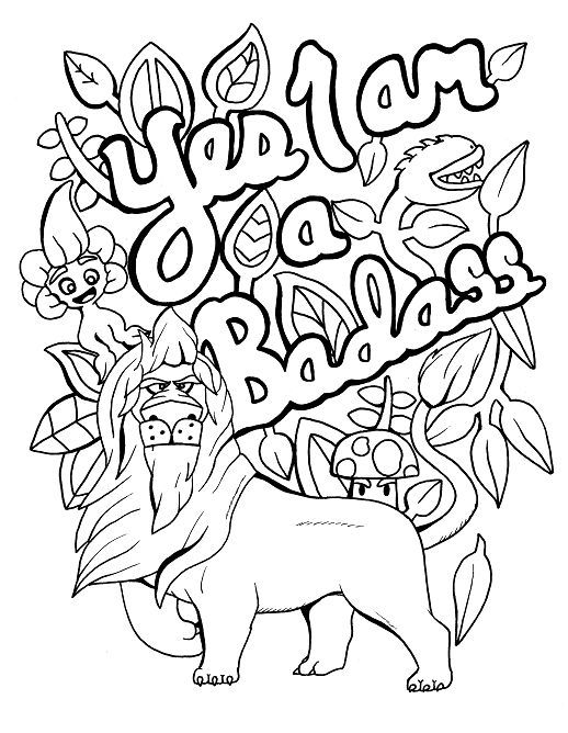 Lion - Adult Coloring page - swear. 14 FREE printable coloring pages, Visit swearstressaway.com to download and print 14 swear word coloring pages. These adult coloring pages with colorful language are perfect for getting rid of stress. The free printable coloring pages that are given change, so the pin may differ from the coloring pages give at swearstressaway.com #coloring #art #motivational