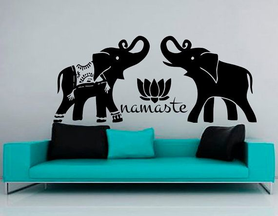Elephant Wall Decals Vinyl Sticker Children Nursery Bedroom Decal Home Decor Yoga Studio Interior Design Art Murals MN898