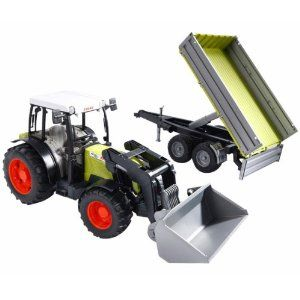Best Gift : Bruder Claas Nectis 267 F With Frontloader And Trailer ^_^