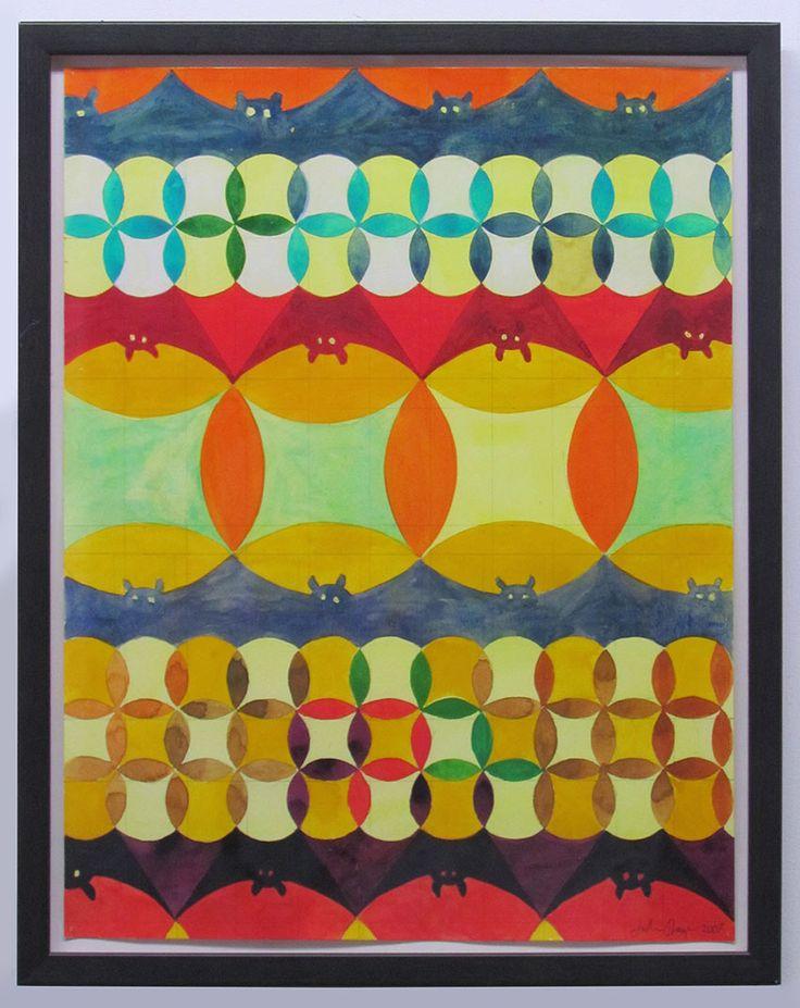 Julian Hooper, Pattern with bats, 200