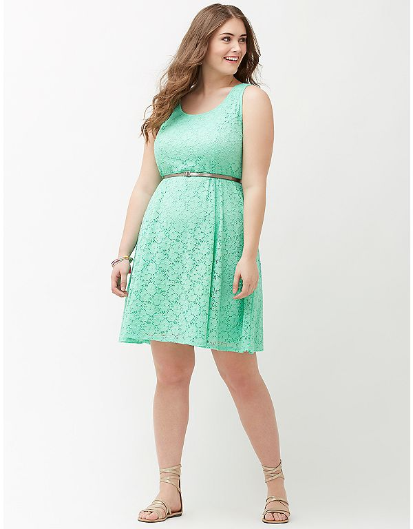 Lane bryant lace scoop neck skater dress with removable for Lane bryant wedding dress