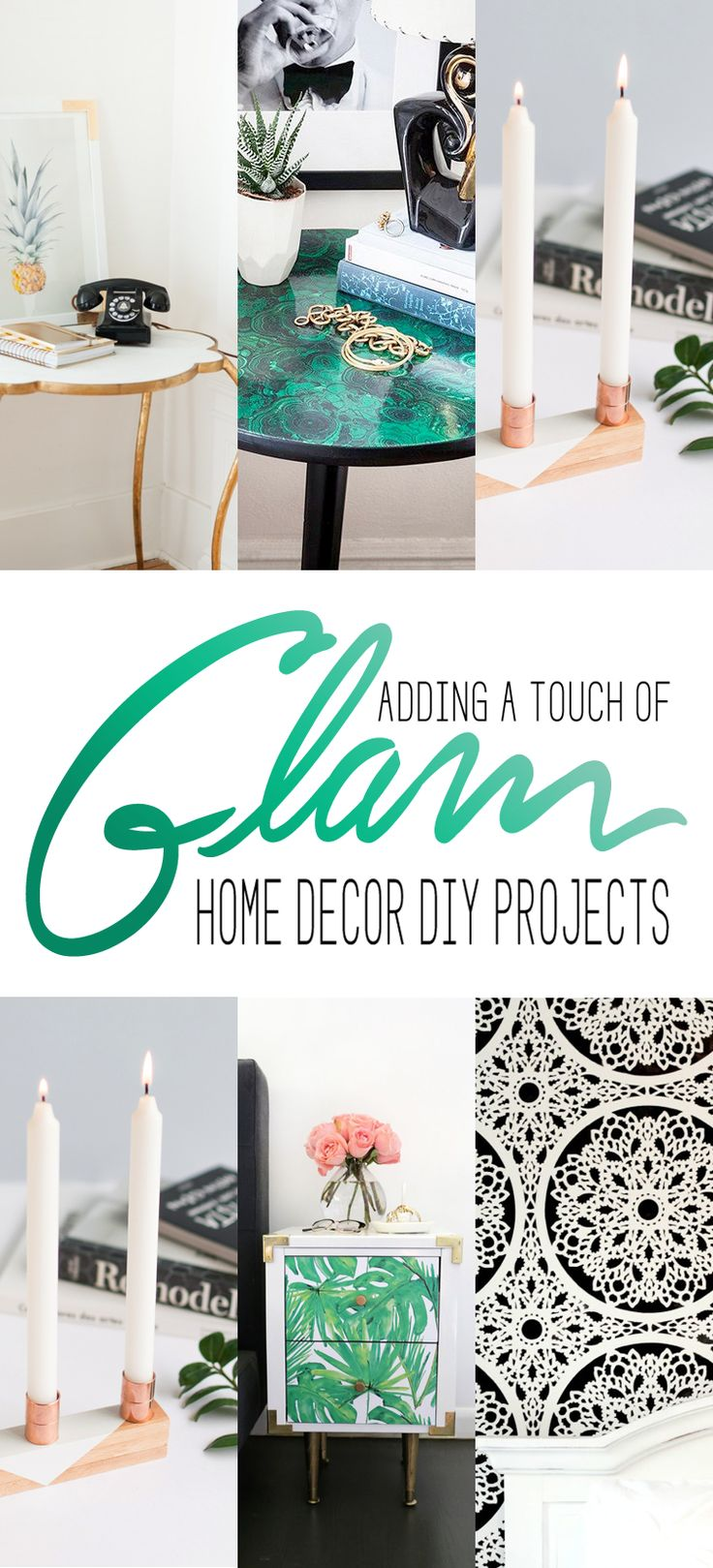 Touch Of Glam Home Decor Diy Projects The Cottage Market Popular Pins Pinterest