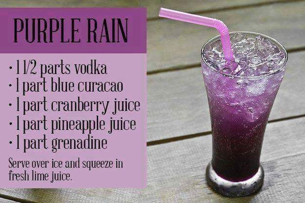Purple Rain Mixed Drink