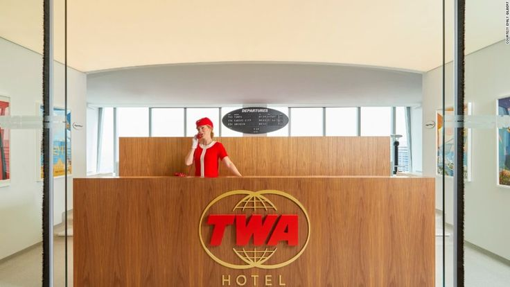 TWA opens a retro lounge in New York's One World Trade Center in preparation for the 2019 opening of the renovated TWA Hotel at JFK International.
