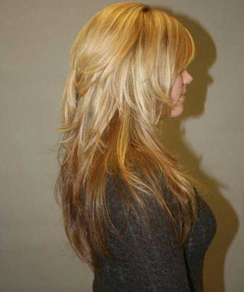 Long Layered Hairstyles Best Long Choppy Layers Hairstyle  Haircut Styles  Pinterest